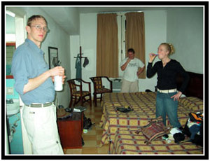 Kai, Joe, and Emily in the Hotel Colina (20k image)