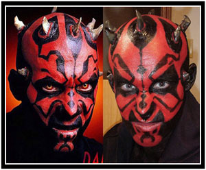 Arlo compared to the original Darth Maul