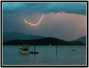 Lightning over Auke Bay