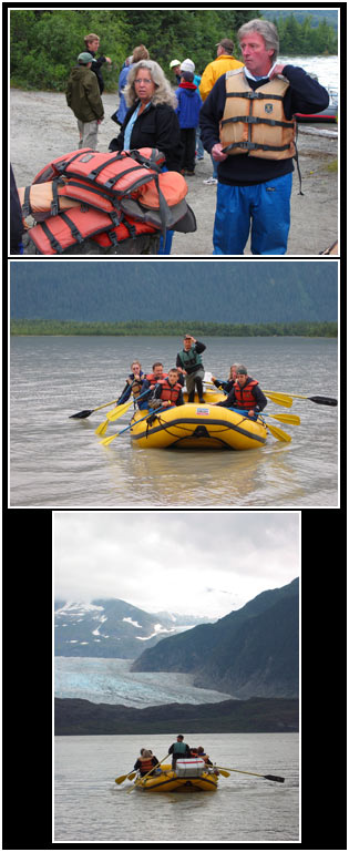 Rafting the Mendenhall River