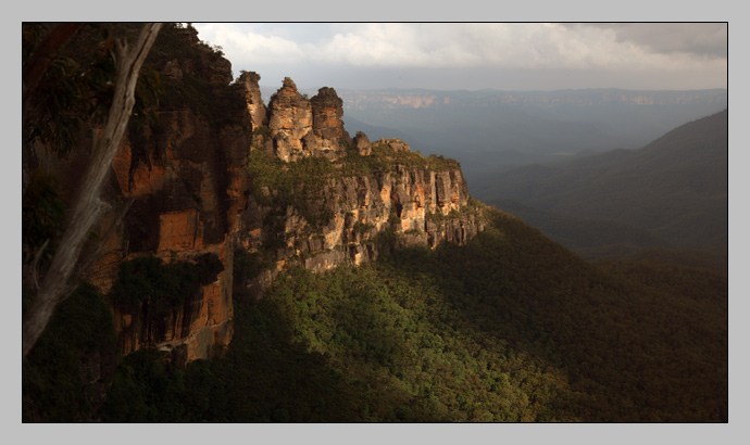 Three Sisters Panorama, golden hour