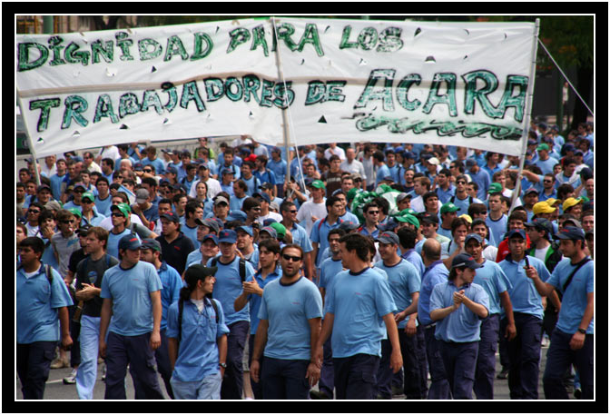 A labor union rally in Buenos Aires