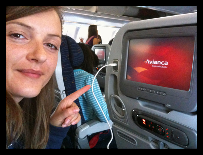Oksana on Avianca