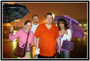 Oksana, Andrey, Vanya, and Vika, July 2006