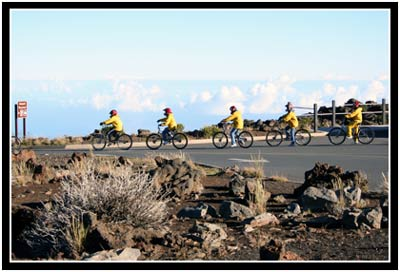 This is what you would look like, biking down Haleakala.