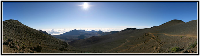 Haleakala Crater Panorama, Shifting Sands Trail.