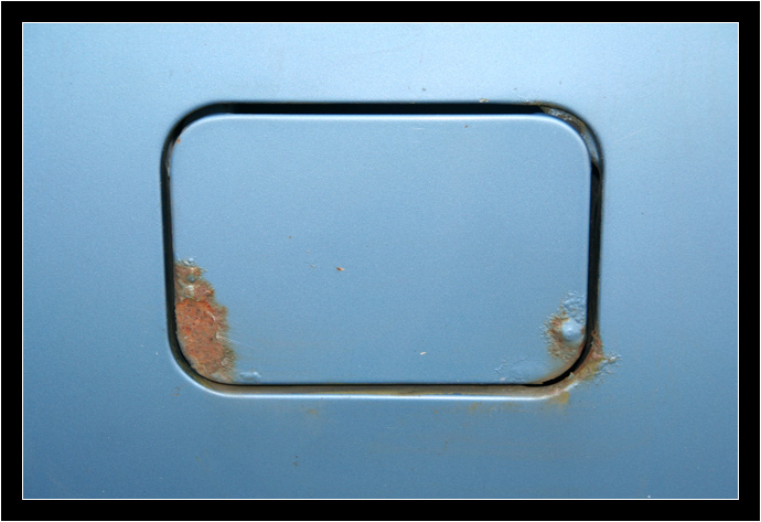 Rust on the gas cap