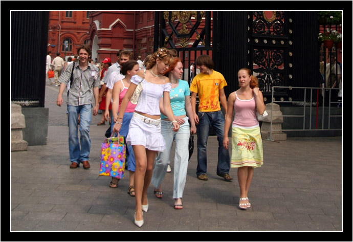 Common sight on the streets of moscow in the summer