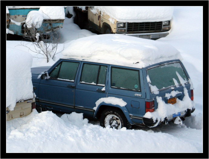 Jeep in winter