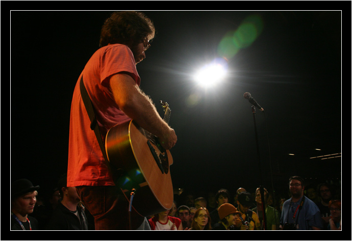 Jonathan Coulton in the big bright light